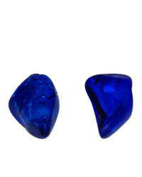 Balenciaga Blue Rock Earrings