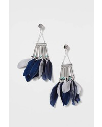 Feather And Bar Drop Earrings
