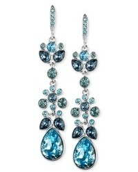 Givenchy Blue Swarovski Crystal Chandelier Earrings