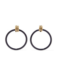 Balenciaga Gold Tone And Resin Earrings