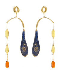 Ejing Zhang Hail Gold Plated And Resin Earrings