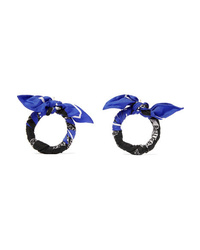 Balenciaga Printed Silk Twill Earrings