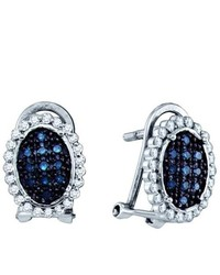 SEA Of Diamonds 034ctw Blue Diamond Micro Pave Earrings