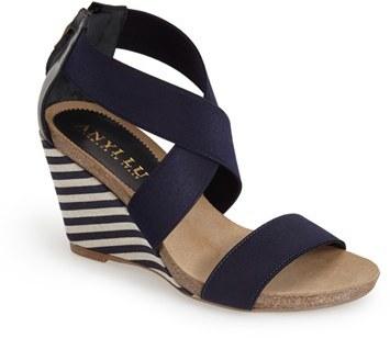 ... Anyi Lu Cristina Wedge Sandal ...