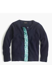 J.Crew Girls Embellished Cashmere Cardigan Sweater