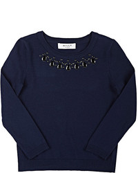 Embellished crewneck sweater medium 3665860