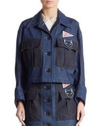 Embellished denim jacket medium 1197689
