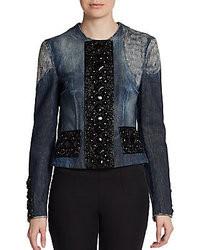 Dolce & Gabbana Embellished Distressed Denim Jacket