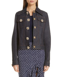 Michael Kors Jewel Button Denim Jacket