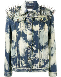 Gucci Spike Embellished Denim Jacket