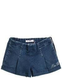 Miss Blumarine Embellished Stretch Denim Shorts