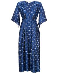 Fendi Embellished V Neck Dress