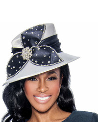 Navy Embellished Hat