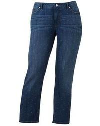 JLO by Jennifer Lopez Jennifer Lopez Embellished Boyfriend Jeans Plus