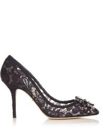 Dolce & Gabbana Belluci Crystal Embellished Lace Pumps