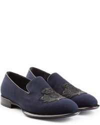 Alexander McQueen Loafers With Embellished Motif