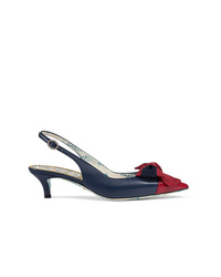 Gucci Sling Back Pump With Web Bow