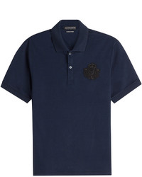 Alexander McQueen Cotton Polo Shirt With Embellished Motif