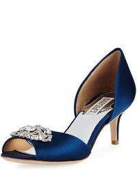 Badgley Mischka Petrina Low Embellished Pump Navy