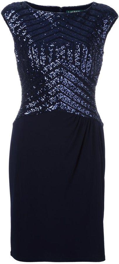 Lauren Ralph Lauren Lauren Ralph Lauren sequin embellished dress ...