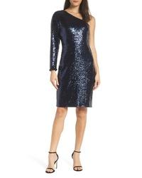 Morgan & Co. One Shoulder Dress