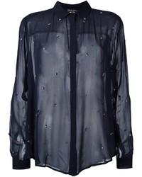 Twin-Set Embellished Sheer Shirt