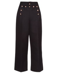 Marc Jacobs Embellished Wool And Silk Blend Sailor Trousers