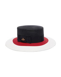 Gucci Embellished Med Straw Hat