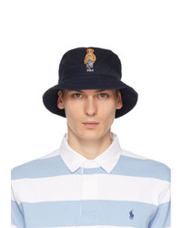 Polo Ralph Lauren Navy Chino Bear Bucket Hat