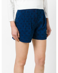 Chinti Parker Star Embroidered Denim Shorts
