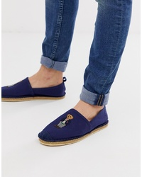 Polo Ralph Lauren Barron Bear Espadrille In Navy
