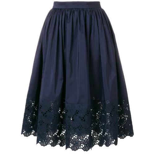 Lanvin Embroidered Trim Skirt