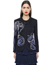 Mary Katrantzou Thera Embroidered Cotton Drill Jacket