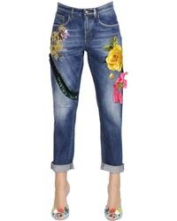 Dolce & Gabbana Embroidered Cotton Denim Jeans