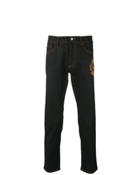 Dolce & Gabbana Tapered Patch Jeans