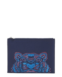 Kenzo A4 Embroidered Tiger Neoprene Zip Pouch