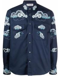 Lanvin Cloud Pattern Button Up Shirt