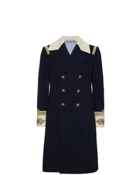 Gucci Admiral Wool Cashmere Blend Top Coat