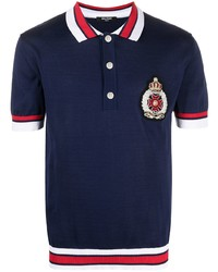 Balmain Embroidered Crest Polo Shirt