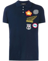 DSQUARED2 Multi Patch Logo Polo Shirt