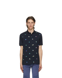 Paul Smith Navy Embroidered House Polo