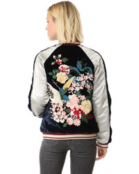 Floral embroidered bomber medium 1044645