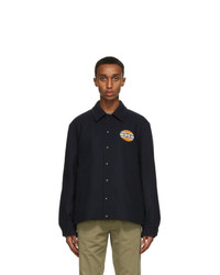 Gucci Navy Felt Interlocking G Patch Jacket