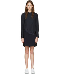 3.1 Phillip Lim Navy Embroidered Shirt Dress