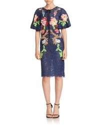Romance Was Born Embroidered Short Sleeve Sheath Dress
