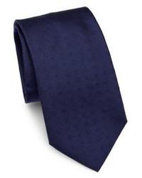 Salvatore Ferragamo Embroidered Gancini Silk Tie