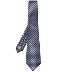 Canali Floral Embroidered Tie