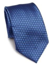 Ermenegildo Zegna Two Tone Embroidered Silk Tie