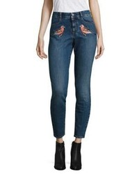 Stella McCartney Embroidered High Waist Skinny Jeans