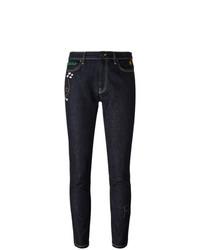 Mira Mikati Embroidered Rocket Skinny Jeans